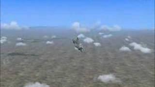 FS2004 F16C doing some Aerobatic Flight