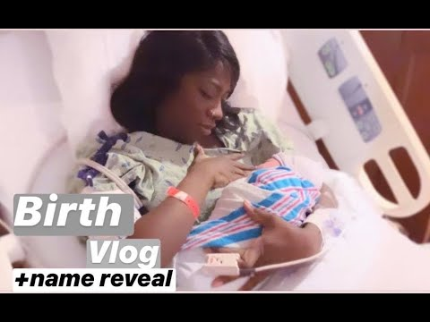 LABOR AND DELIVERY VLOG | NAME REVEAL