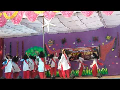 cham cham song dance performance of 7th std girl of good shepherd academy can