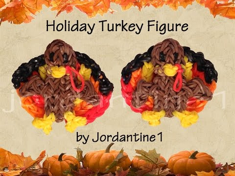 New 3D Holiday Turkey Figure /Charm - Rainbow Loom - Thanksgiving Fall