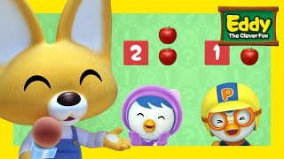 Learn Shapes & Size with Eddy   #8 Playing with Numbers   Eddy the Clever Fox S2   Pororo English