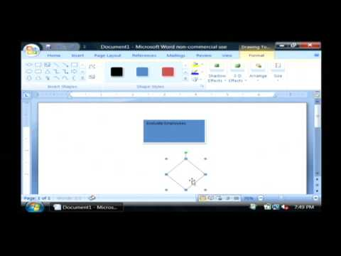 Computer Training How To Make A Flowchart On Microsoft Word Youtube