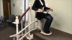 Stannah Stairlift User Demonstration on Curve Starla Model