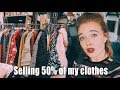 Big wardrobe declutter - I sold 50% of my clothes at a market