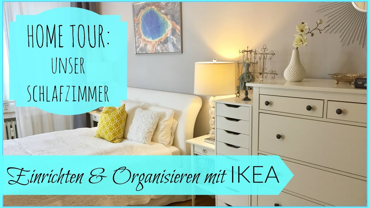 einrichten organisieren mit ikea unser schlafzimmer beautythoughtsbyalex youtube. Black Bedroom Furniture Sets. Home Design Ideas