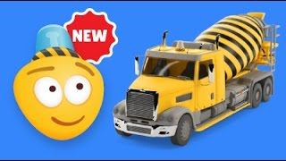 Kid's 3D Construction Cartoon : Concrete Mixer Truck  I Learning Construction Vehicles for Kids