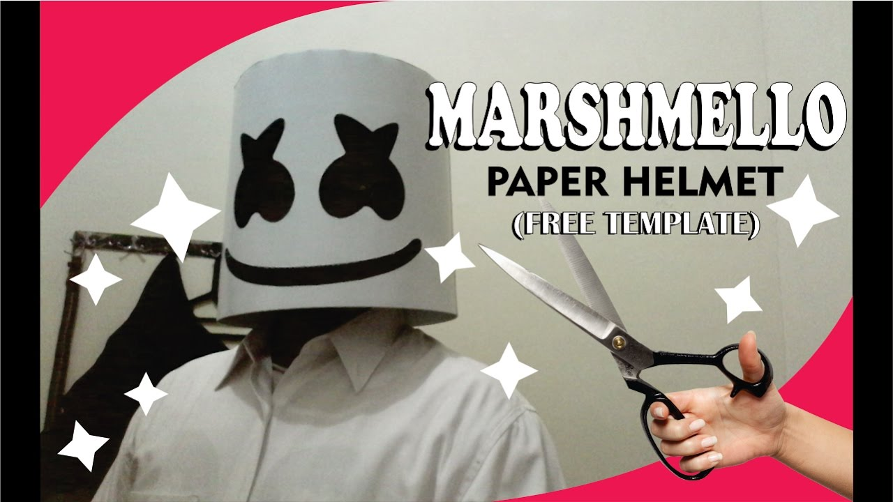 photo regarding Printable Marshmallow Template called How Towards Produce Marshmello Paper Helmet (totally free template) by means of Ganeshandra