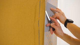 Moulures pour la pose de papier peint dans les coins extérieurs et courbes