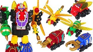 Transform insect 5 combine robots! Defeat the poachers who are taking animals! #DuDuPopTOY