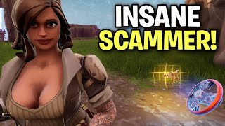 Psycho scammer scammed himself! 😆👍 (Scammer Get Scammed) Fortnite Save The World