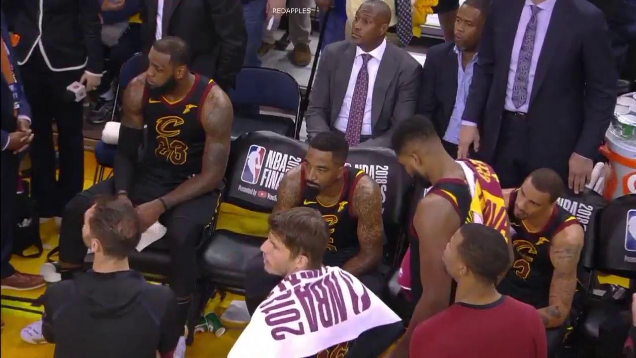 55d42a324cb9 Uncut footage reveals a shocked Cavs bench as LeBron James