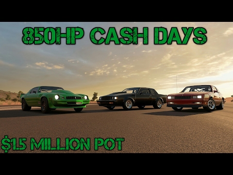 Forza Horizon 3: Street Outlaws Cash Days 2   1.5 Mil Pot