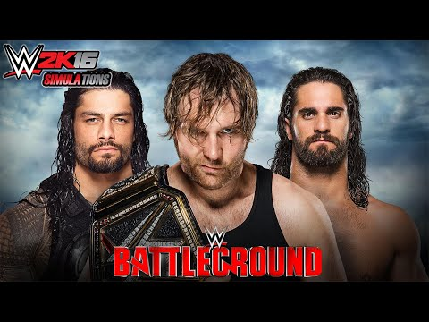 WWE 2K16 - BATTLEGROUND 2016: Dean Ambrose vs Seth Rollins vs Roman Reigns