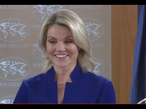MUST WATCH: US State Department URGENT Press Briefing with Heather Nauert 10-24-17