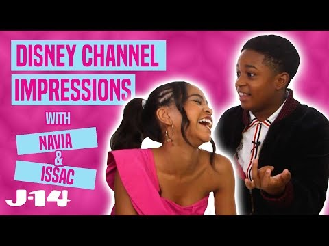 Raven's Home Stars Navia & Issac Do Disney Channel Impressions