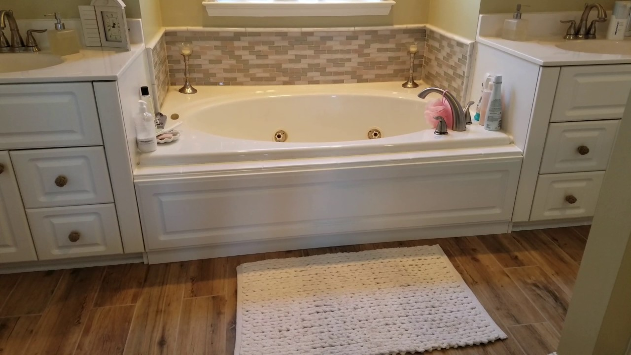 Building a custom tub skirt panel - YouTube