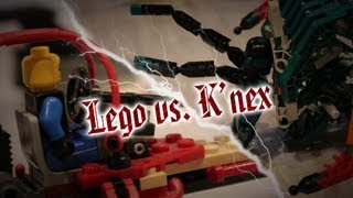 Lego Vs. K'nex - Stopmotion
