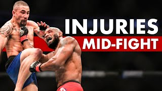 10 Fighters Who Suffered Devastating Mid-Fight Injuries & Somehow Still Won