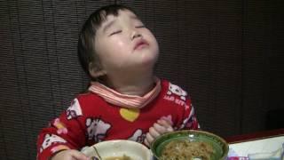 食事中睡魔に襲われる英奈 thumbnail