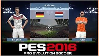 PES 2016 - Alemanha VS Holanda - GAMEPLAY-1080p