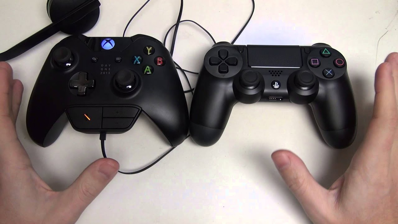 Xbox One vs PS4 (Controller / Headset) - YouTube