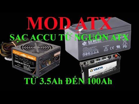 ATX Series: Mod Nguồn ATX, Nguồn PC Thành Nạp ACQUY 12V 3.5Ah đến 100Ah- Nhanh Và Đơn Giản