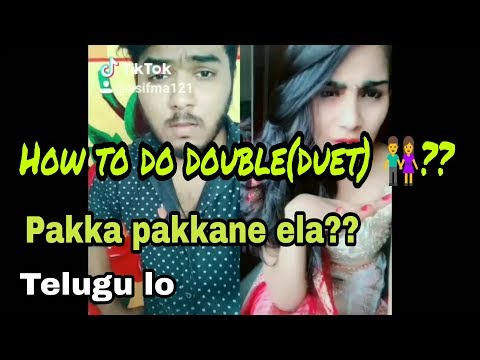 How To Do Double Dubsmash(Duet) In TikTok (musically) Telugu Lo| Asif MA