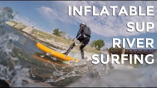 River Surfing with an Inflatable SUP