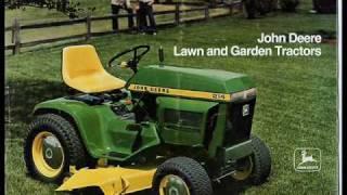john deere lawn tractor time line