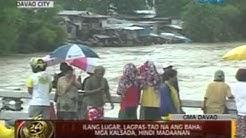 24 Oras: Ilang ilog sa Davao, umapaw dahil sa magdamag na pag-ulan