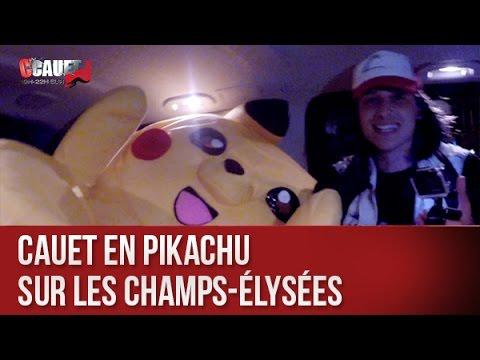 Cauet en Pikachu sur les Champs-Élysées - C'Cauet sur NRJ