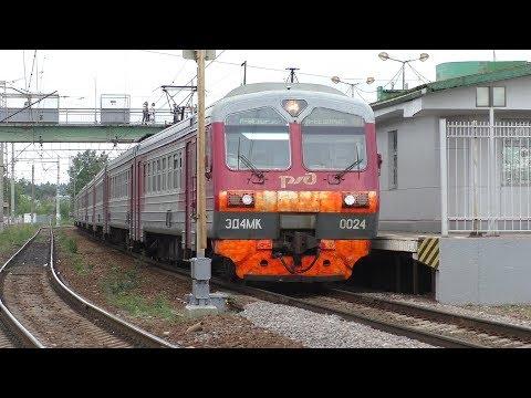 Электропоезд ЭД4МК-0024 станция Голицыно