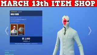 Fortnite Item Shop (March 13th) | WILD CARD IS BACK + 4 WRAP BUNDLE!