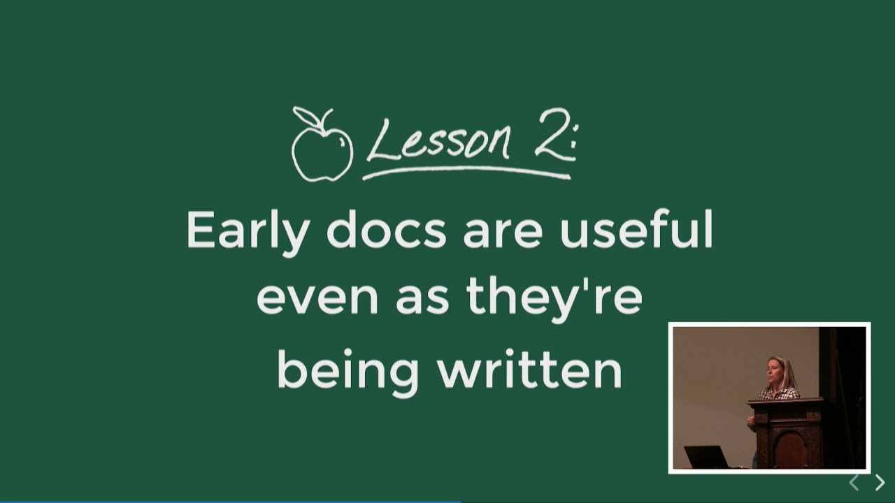 Image from Lessons Learned in a Year of Docs-Driven Development - Jessica Parsons