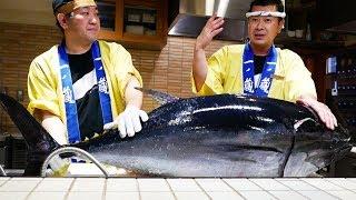 日本路邊小吃 - 吃40KG金槍魚所有的部分!