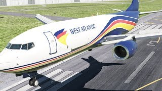 West Atlantic Airlines Boeing 737 Instruments Fail at Bordeaux, Incident Landing | X-Plane 11