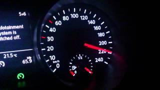 New 2014 Volkswagen Polo 1.2 TSI 81kw hitting 220Kph (137Mph)