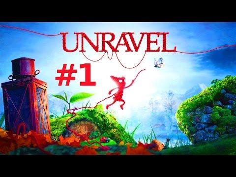 Let's Play UNRAVEL Gameplay German Deutsch PS4/ONE/PC Part 1 - Disteln und Gräser