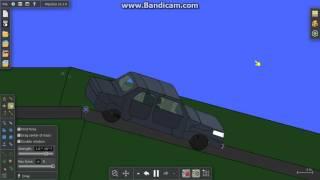 Algodoo 3d car crashes what ever