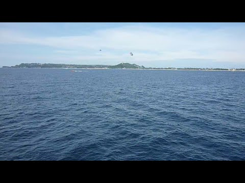 we had Boracay on our right side coming back