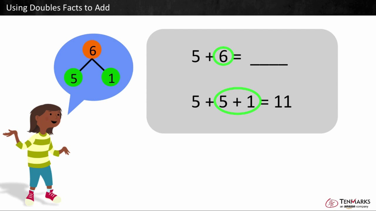 medium resolution of Using Doubles Facts to Add: 1.OA.6 - YouTube