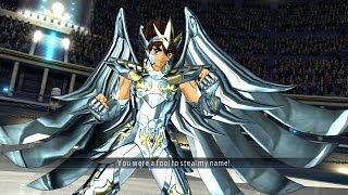 Saint Seiya Soldier's Soul: Pegasus Seiya God Cloth Moveset Gameplay [PS4] (English)