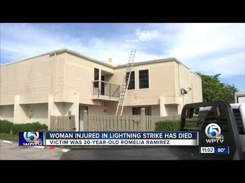 Woman, 20, dies two weeks after being struck by lightning