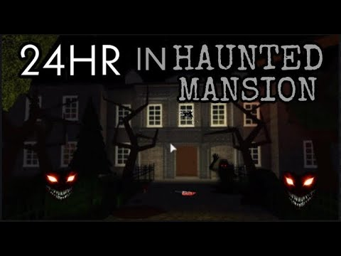 I Spent 24 Hours In Someones House Roblox Bloxburg Youtube - 24 Hours In Haunted House Challenge Bloxburg Youtube