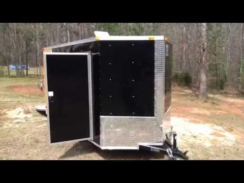 2013 cargo trailer camper toy hauler conversion  YouTube
