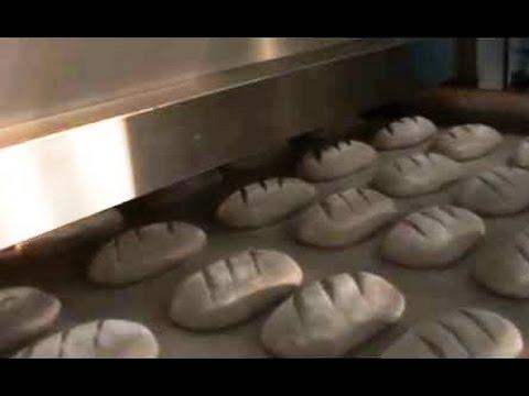 Автоматическая линия выпечки подового хлеба. Хлебозавод в Кунгуре.