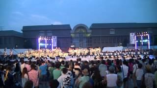 福井大学よっしゃこい2013年度演舞曲「夢光咲」の、春江イッチョライで...