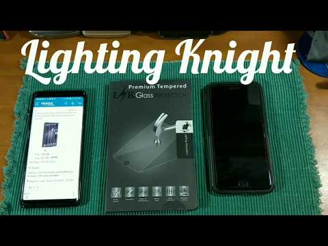 iphone-8-plus-&-lighting-knight-tempered-glass-screen-protectors-and-install.