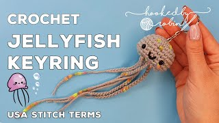 Crochet Amigurumi Jellyfish Keychain (SUPER FAST) Quick Easy Crochet Project