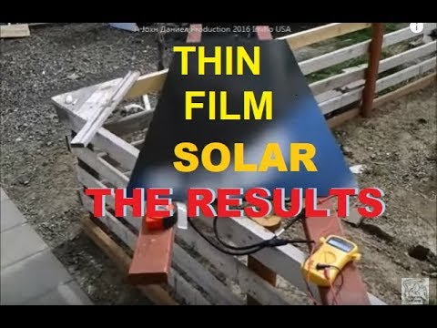Thin Film Amorphous solar panels Low Light Results (info for similar below)